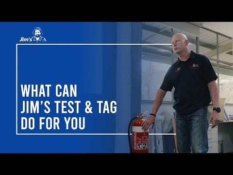 Don from Jim's Test & Tag + Fire Safety audits Jim's HQ with all the services they can provide