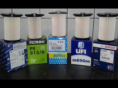 Топливные фильтры для Ford - Bosch, Ufi, Kolbenshmidt, Filtron, Purflux.  Обзор и сравнение.
