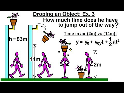 Physics - Mechanics: Additional Motion Examples (8 of 12) Dropping an Object: Ex. 3