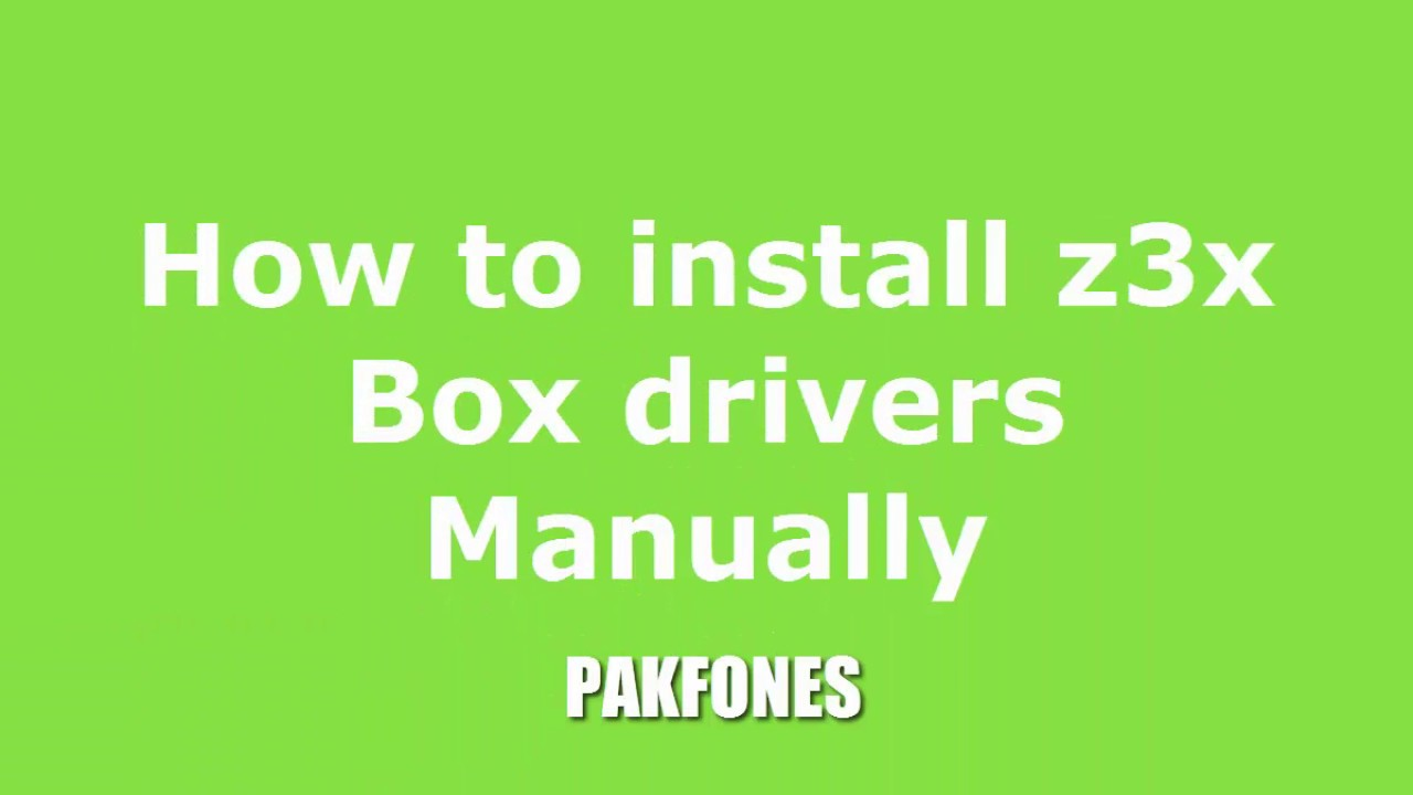 how to manually install drivers