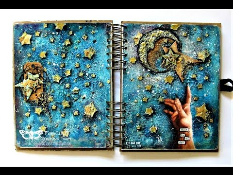 """Reach for the Stars"" - Mixed Media Art journal Page by Sanda Reynolds"