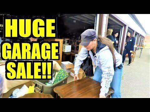 Ep210: 8 GARAGES FULL OF STUFF! - HUGE GARAGE & YARD SALE! - The ORIGINAL GoPro Yard Sale Vlog