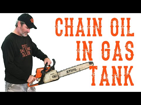 What To Do If You Accidentally Filled Your Chainsaw Gas Tank With Oil - Video