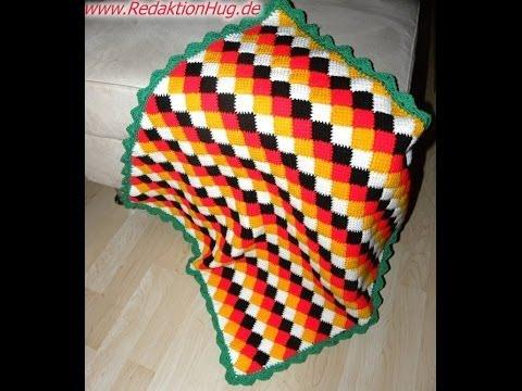 tunesisch h keln entrelac wm decke teil 2 veronika hug youtube. Black Bedroom Furniture Sets. Home Design Ideas