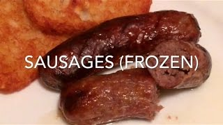 Sausages from frozen (halogen oven)