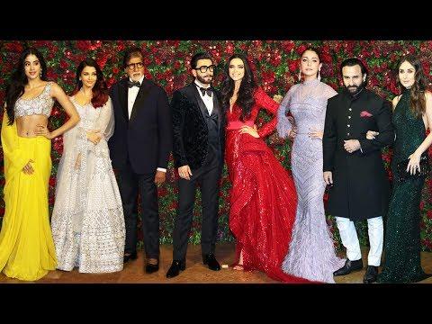 Deepika Padukone- Ranveer Singh's Star Studded Reception Full HD Video   Part 1