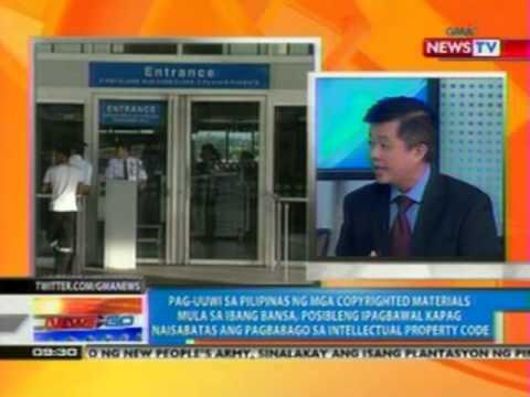 NTG: Panukalang magbabago sa ilang probisyon sa IP code ng Pilipinas