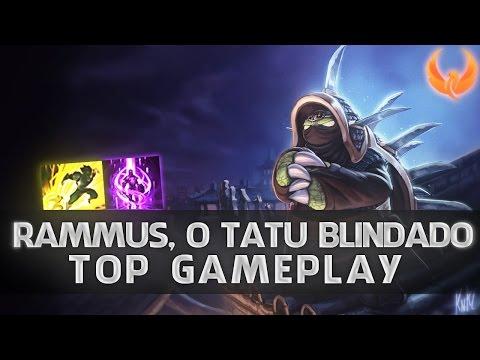 League of Legends - RAMMUS TOP GAMEPLAY - TATU REFLETOR [PT-BR]
