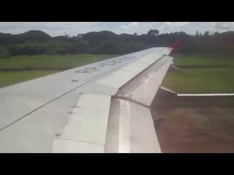 Air Asia Zest A320 Landing in Puerto Princesa Airport Flight Z2 428