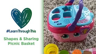 Shapes & Sharing Picnic Basket | #LearnThroughThis with Tiffany