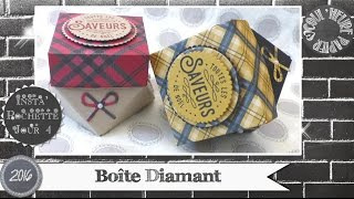 """Vidéo-Tuto """"Boîte Diamant"""" par Coul'Heure Papier"""