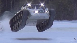 Repeat youtube video Ripsaw EV2 ice drifting Ken Block Hoonagan Style 2015