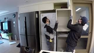 【다산 e편한세상자이】 주방 냉장고장 틈새장 제작 설치…