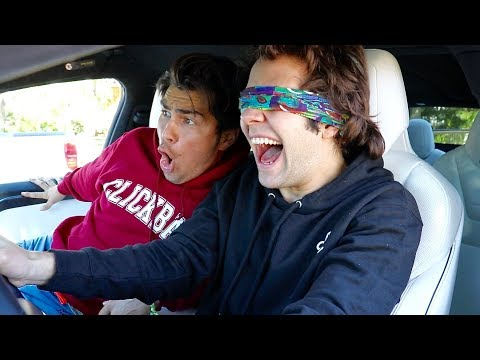 Thumbnail: DRIVING MY TESLA WHILE BLINDFOLDED!!