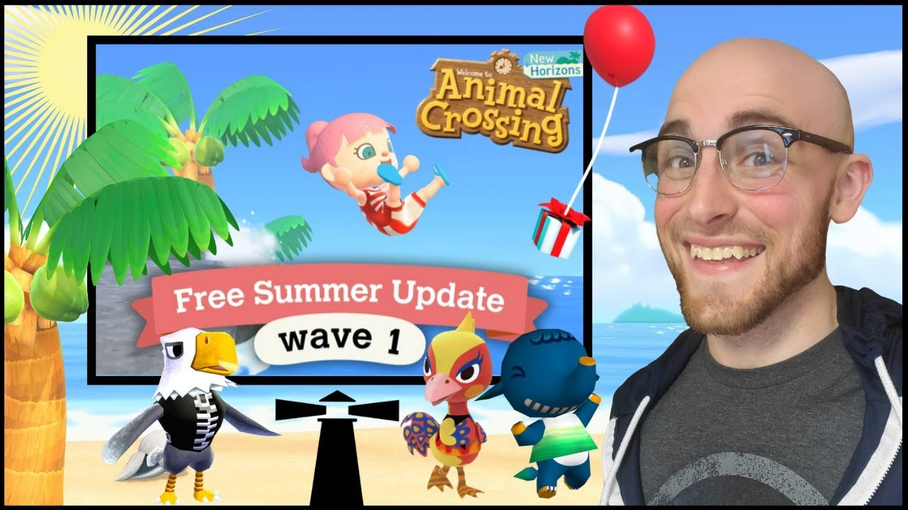 Animal Crossing: New Horizons Summer Update Wave 1! Let's Swim and Do Some Island Visits!