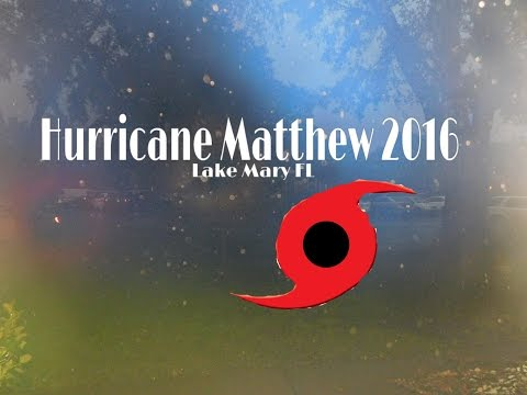 Hurricane Matthew VLOG Lake Mary FL 2016
