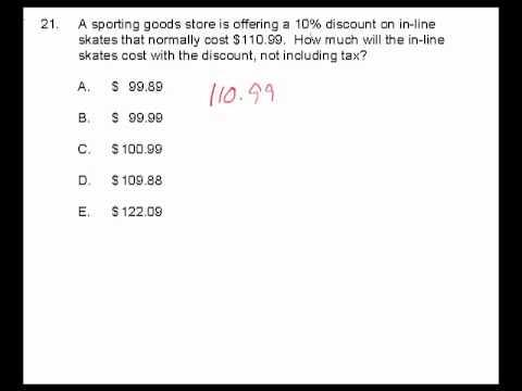 CBEST Math Practice Question 21 - YouTube
