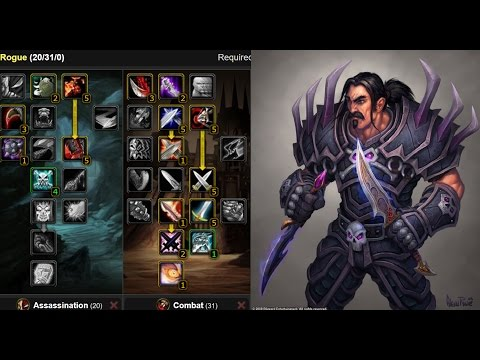 vanilla wow quick guide rogue leveling talents wowservers. Black Bedroom Furniture Sets. Home Design Ideas