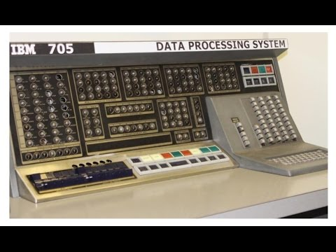 IBM 705 Mainframe Computer - 1957 - 1960's era Data Processing machines - USAF Military Punch Card