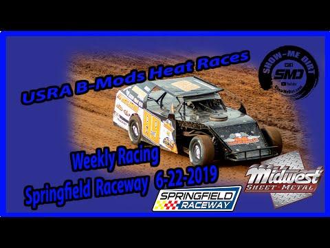 S03-E305 USRA B-Mods Heat Races - Springfield Raceway 6-22-2019 #DirtTrackRacing