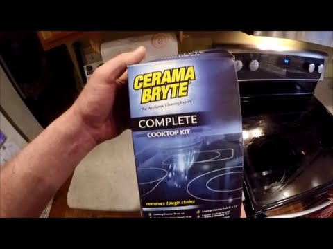 clean a whirlpool glass cooktop with cerama bryte