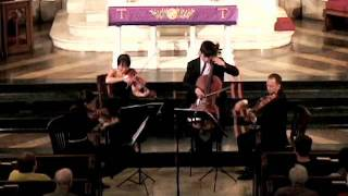 "Attacca Quartet plays Haydn Op. 76 no. 3 ""Emperor"" - Third Movement"