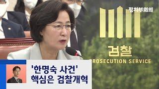 """'한명숙 사건 재조사' 목소리…""""공수처 수사 대상"""" / JTBC 정치부회의"""