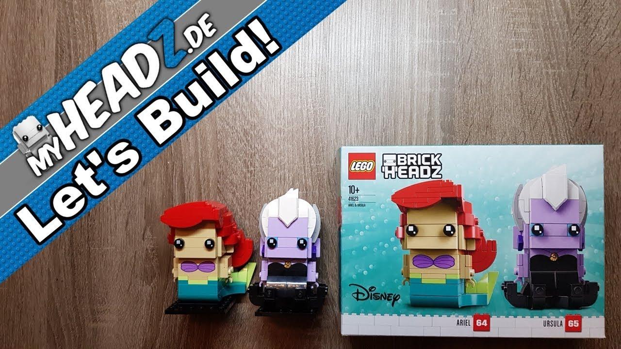 LEGO Disney Princess The Little Mermaid Brick Headz Ariel /& Ursula Set #41623
