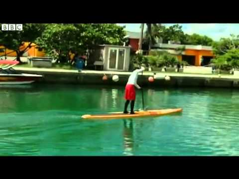 BBC News   Ben Friberg Florida Straits paddle board challenge begins