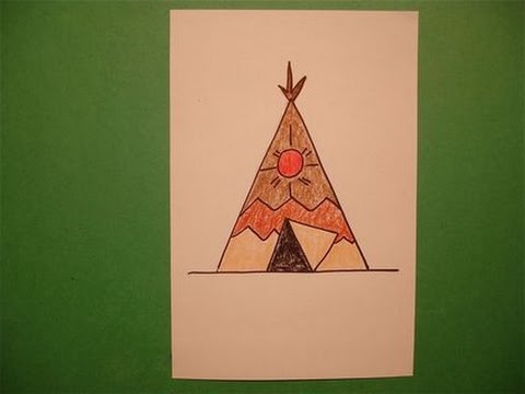 Lets Draw A Native American Teepee Youtube