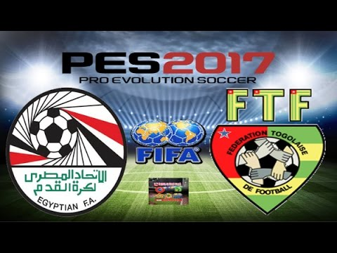 PS4 PES 2017 Gameplay Egypt vs Togo HD