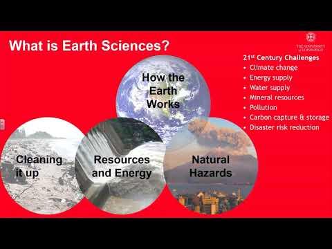 Earth Sciences at Edinburgh University Open Day presentation 2017