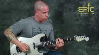 Learn to play Metallica riffs Damage Inc & Battery guitar lesson fast picking rhythms & power chords