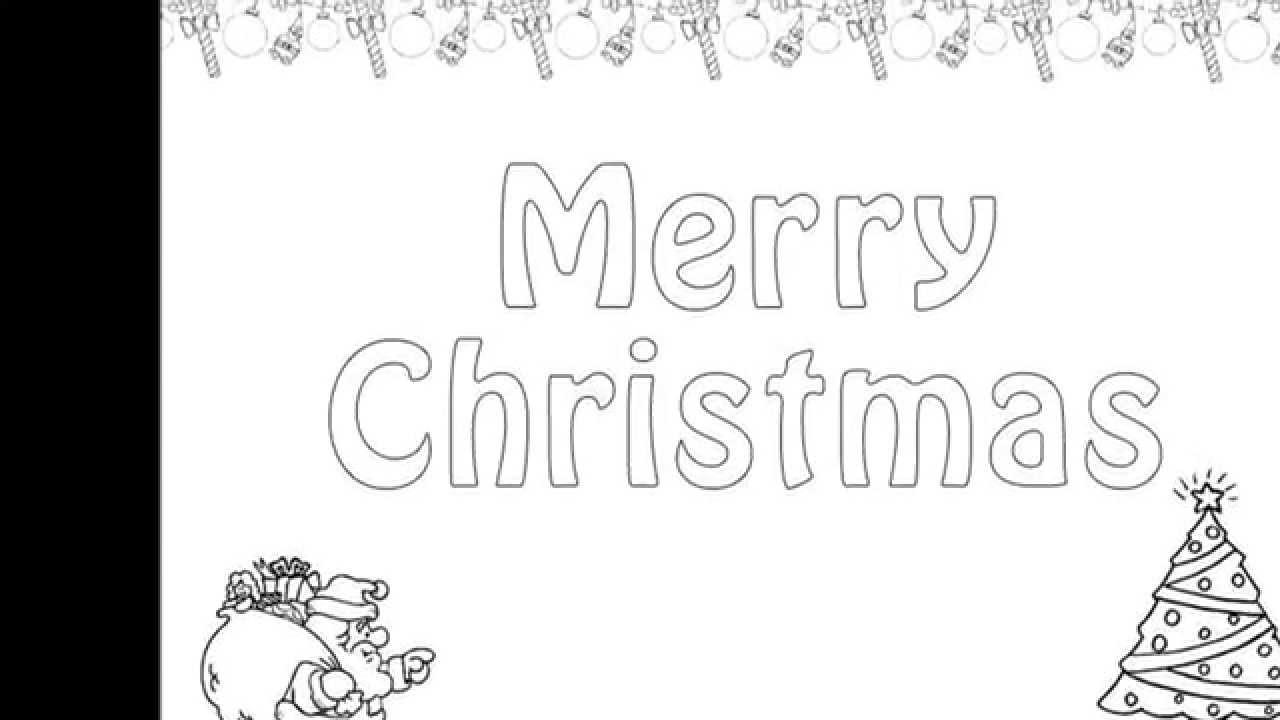 Christmas Colouring Pages And Kids Colouring Game