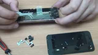 видео Замена шлейфа iPhone 4