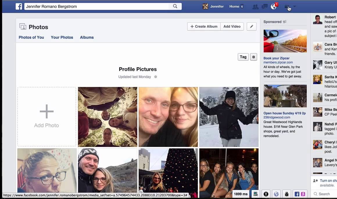 How to change your featured photos on facebook to private