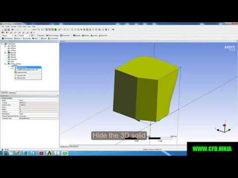 ANSYS DESIGN MODELER - Basic Tutorial 3 - BLEND and CHAMFER