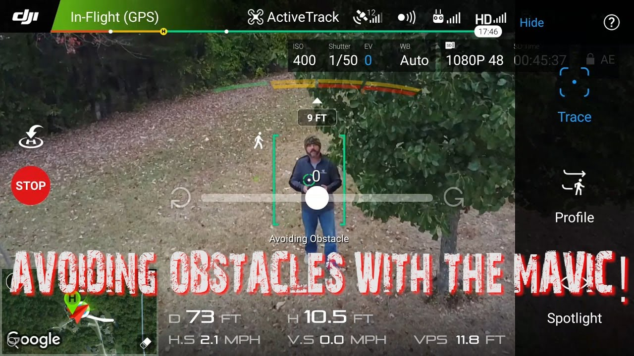 DJI MAVIC ACTIVE TRACK with OBSTACLE AVOIDANCE