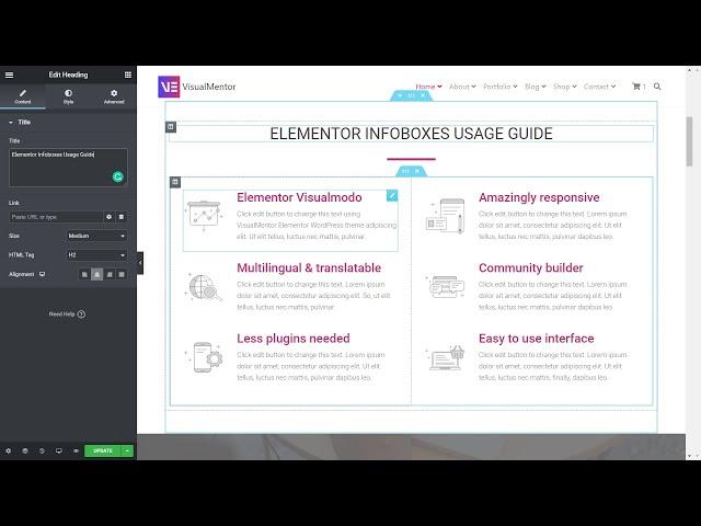 Elementor WordPress Plugin Infoboxes Usage Guide