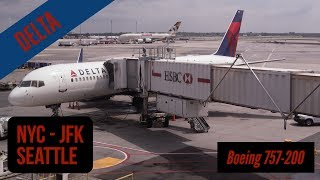 New York (JFK) Seattle - Delta - full flight