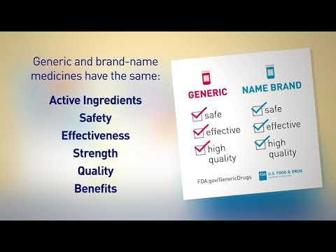 How are generics and brand-name medicines the same?