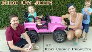 Best Choice Products Jeep Style 12V Ride On Car Truck W/ Remote Control