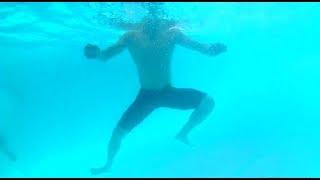 تدريبات نسر الكونغ فو علي الوقوف في الماء لتفادي الغرق / سباحة  Treading Water drills