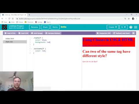 Classes In HTML/CSS