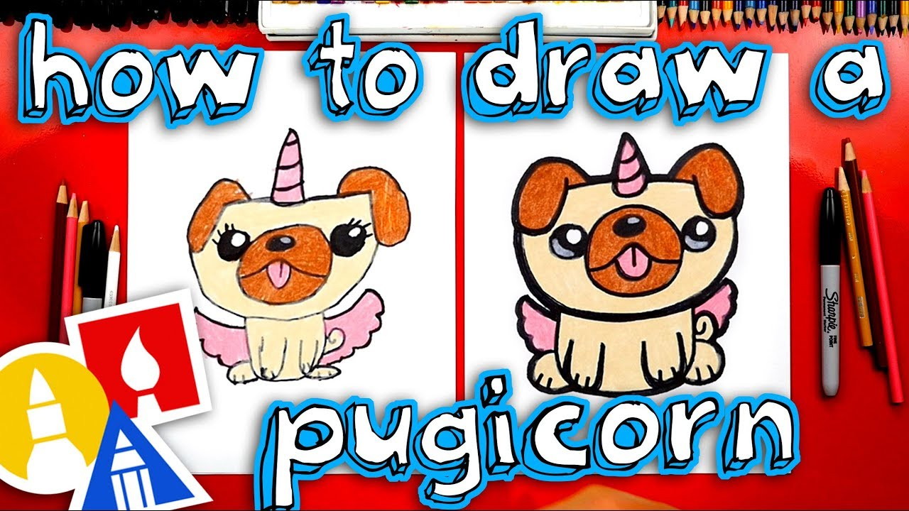 How To Draw A Unipug Pugicorn Unicorn Pug Youtube