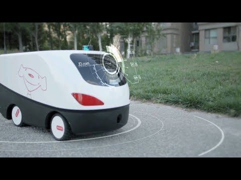 How do driverless vehicles deliver packages