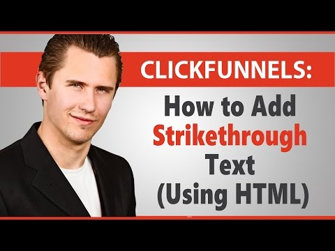 ClickFunnels: How To Add Strikethrough Text (Using HTML)