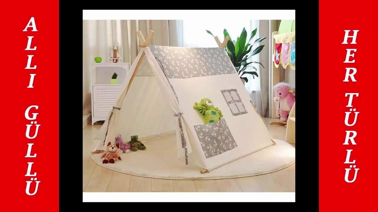 Çocuklara Ev İçinde Harika Bir Çadır Hazırlamak için Basit Bir Yöntem