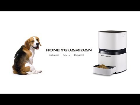 Be Together With Your Pets.S25 Smart Pet Feeder Food Dispenser For Dogs & Cats by HoneyGuaridan