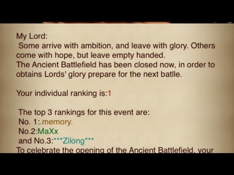 [Clash Of Kings]c28.Ancient Battlefield. Ranking Is 1 😳